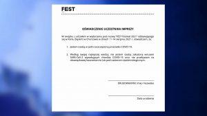 Fest Festival w Parku Śląskim potwierdził, że na imprezę wejdą tylko osoby, które potwierdzą, że są zaszczepione