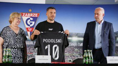 Łukasz Podolski już oficjalnie piłkarzem Górnika Zabrze. Podpisał roczny kontrakt (fot.Górnik Zabrze)