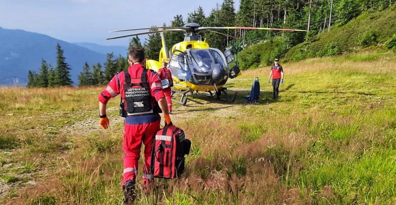 Złamania, skręcone stawy skokowe. GOPR ratuje nastolatków w górach. Fot. GOPR Beskidy