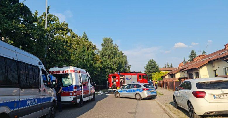 Dwie osoby nie żyją. Tragiczny w skutkach wybuch butli na parkingu w Częstochowie. Trwa ustalanie przyczyn (fot.Fatima Orlińska)