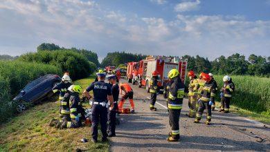 Dramatyczny wypadek z udziałem 10 osób. Sprawczyni miała 4 promile (fot.Policja Łódzka)