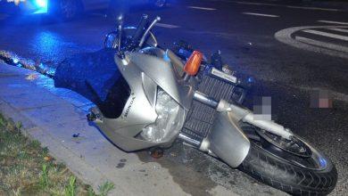 Motocyklista potrącił dziecko na pasach. On i chłopiec z poważnymi obrażeniami trafili do szpitala (fot.Policja Lubelska)