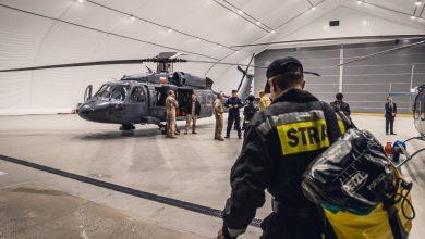 Policyjny Black Hawk wyleciał do Turcji. Pomoże w gaszeniu gigantycznych pożarów (fot.policja.pl)