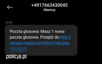 """Uważajcie """"na pocztę głosową""""! Oszuści mają nową metodę działania (fot.policja.pl)"""