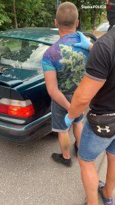 Kolejni pseudokibice jednego ze śląskich klubów zatrzymani. Razem z nimi w ręce policjantów ze spec-grupy, rozpracowującej gang, wpadło kilka kilogramów narkotyków (fot.KWP Katowice)