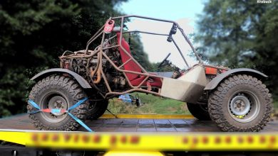 Śląskie: Zwłoki mężczyzny przygniecione pojazdem 4x4 znalazła w strumieniu jego matka (fot.policja)