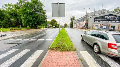 Przejście dla pieszych w Sosnowcu wyśle ostrzeżenia na telefony. Fot. UM Sosnowiec
