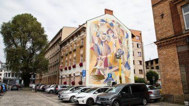 Mural jest realizowany w ramach projektu oBBraz miasta #7, organizowanego przez Galerię Bielską BWA i Fundację Galerii Bielskiej. [fot. Paweł Sowa / UM w Bielsku-Białej]