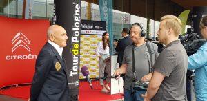 Obsługa Tour de Pologne pojedzie w tym roku Citroenami. Umowa podpisana (fot.Biuro Prasowe Lang Team)
