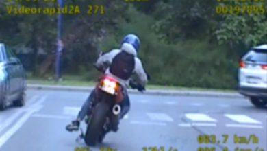 Kawasaki kontra radiowóz. Pościg za motocyklistą w Tarnowskich Górach [WIDEO]. Fot. Śląska Policja