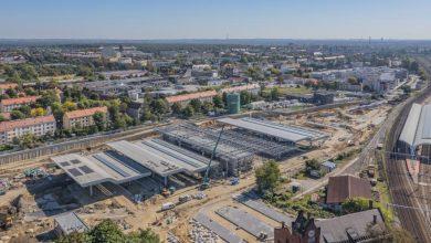 Centrum Przesiadkowe w Gliwicach nabiera kształtów. Wszystko ma być gotowe pod koniec przyszłego roku (fot.UM Gliwice)