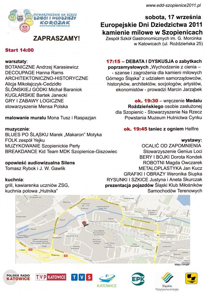 Europejskie Dni Dziedzictwa 2011 Kamienie Milowe W Szopienicach